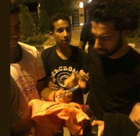 Egyptian Fans Turn Up At Mo Salah's House To Surprise Him