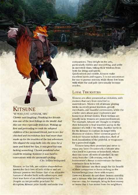 [Homebrew 5e] Kitsune race one of my players created, just