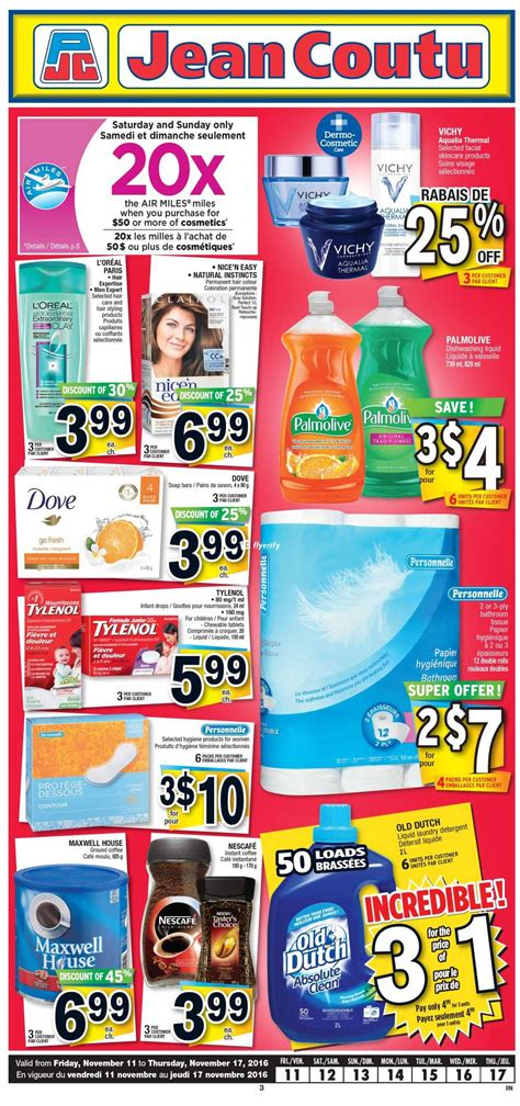 Jean Coutu (ON) Flyer November 11 to 17 Canada