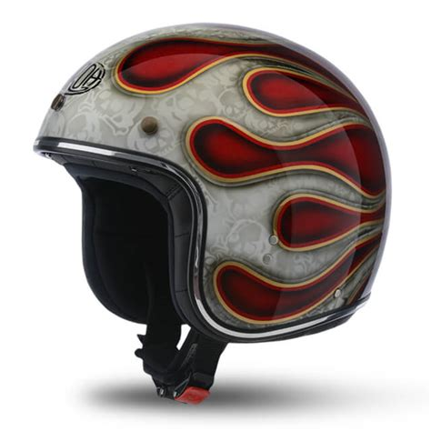 Airoh Riot Flame Red Glitter Helmet – Scooter Style