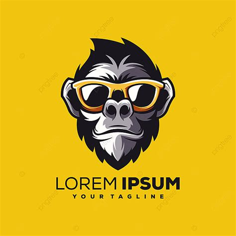 Monkey Logo Design Vector Template for Free Download on