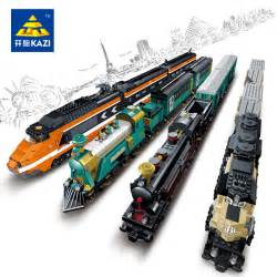 Model building kits compatible with lego city trains rail