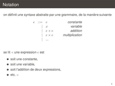 Introduction a la compilation Analyse Syntaxique - C3