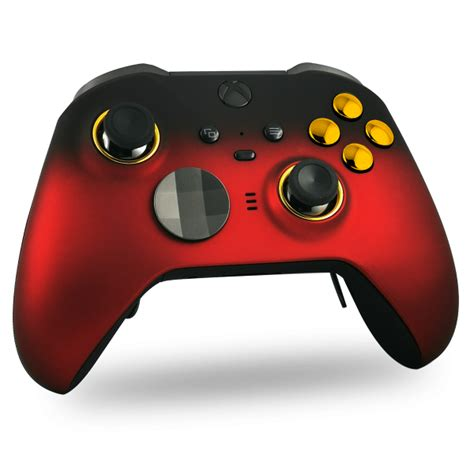 Manette Xbox One Elite série 2 custom Red & Gold   Draw my Pad