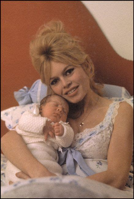 Brigitte Bardot in 1960 after giving birth to her son