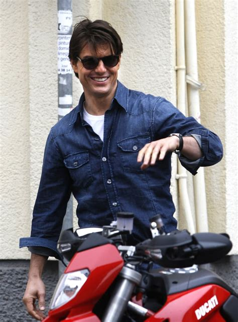 In December 2009, Tom Cruise hopped onto a motorcycle