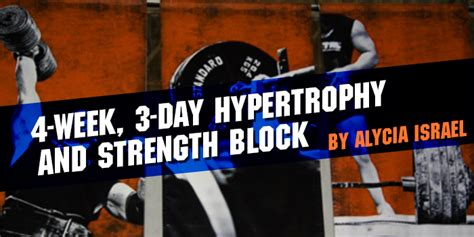 4-Week, 3-Day Hypertrophy and Strength Block / Elite FTS