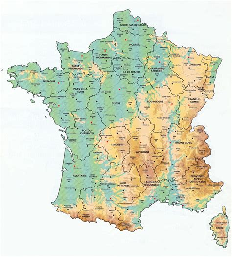 france: Map of France Geography Pictures