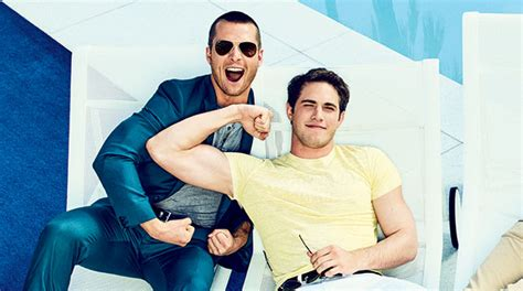 Blake Jenner Flexes His Muscles with Glen Powell for