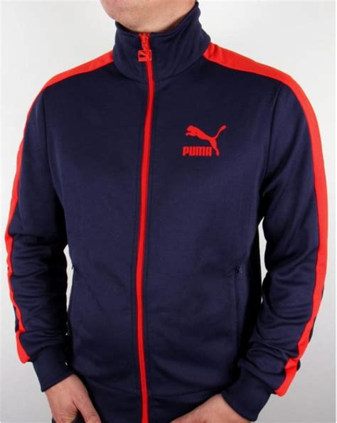 Puma T7 Track Top Navy/red - T7 tracksuit top, jacket