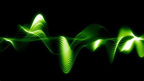 Abstract Green Sound Wave Animation Stock Footage Video