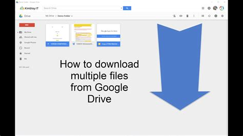 How to download multiple files from Google Drive - YouTube