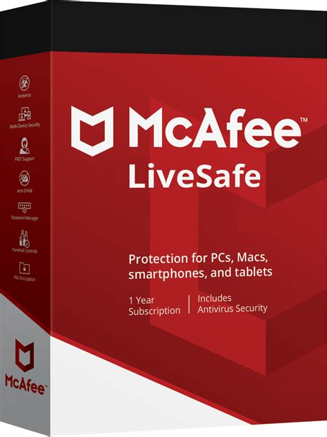 McAfee LiveSafe 2020 Activation Key - 1 Year Unlimited Devices