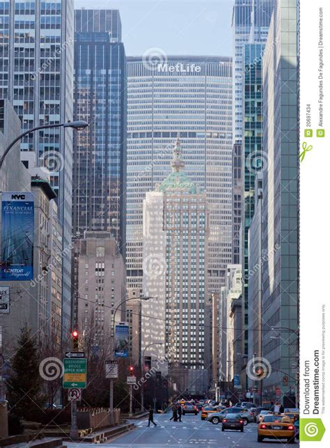 Park Central Avenue And Metlife Building New York