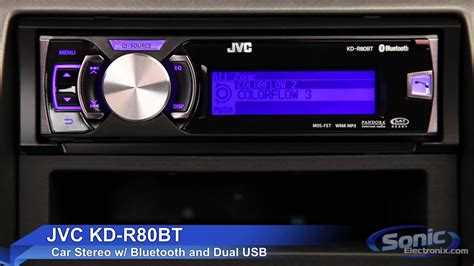 JVC KD-R80BT Car Stereo   iPod, iPhone & Android Ready w