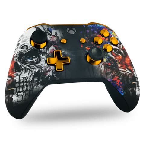 Manette Xbox One custom Golden Tiger   Draw my Pad
