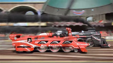 Sweeping Animated Steam-Powered Train Race Short - STEAM