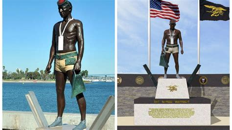 Navy SEAL statues mirror each other across country - The