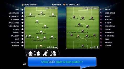 PES 2013 - Best (Real Madrid) Gameplan / Formation !!! (HD