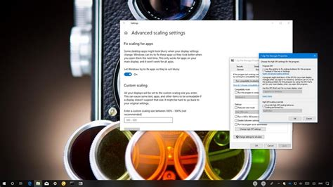 How to change DPI settings for 'classic' apps on Windows