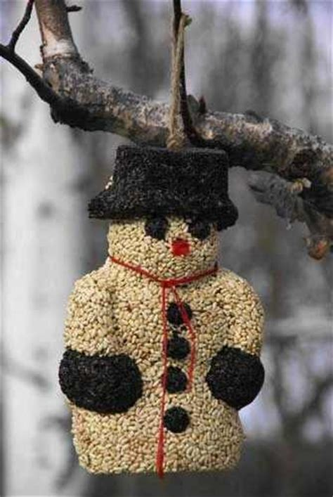 Large Snowman BirdSeed Treat for Holidays & Beyond – The