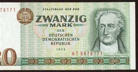 Germany DDR 20 Mark banknote 1975|World Banknotes & Coins