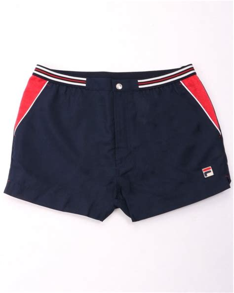 Fila Vintage High Tide 4 Shorts Navy / Red | 80s Casual