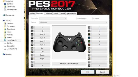 How to Change PES17 keyboard settings[Controls+resolutions